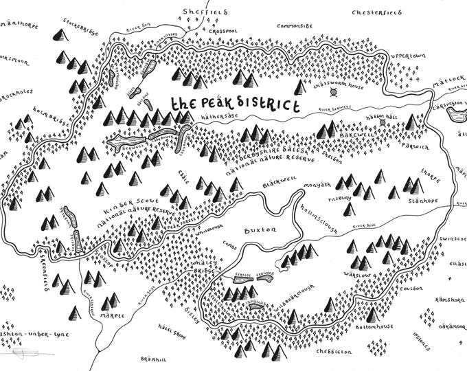 The Peak District National Park - Giclée Print