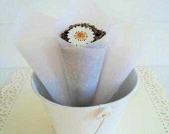 10 Frosted Wedding Cones, Wedding paper cones, Wedding Favors, Confetti Cones, Wedding Cones, Candy Cones, Petal Cones, unfilled