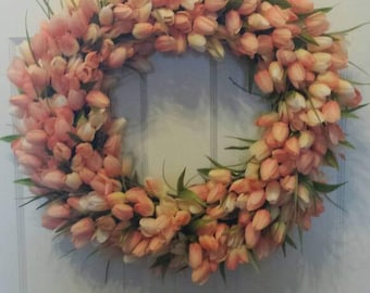 22' Tulip wreath / spring wreath / summer wreath / front door wreath / holiday wreath / Easter wreath / door wreath