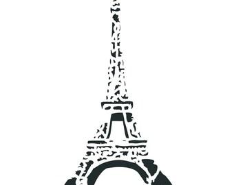 French Eiffel Tower Stencil
