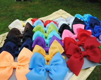Large Bow Gift Set - Pick 25 Colors - 3 Inch Hair Bows - Match Sew Sassy Icings  - Half Pinwheel Summer Hair Clips - M2M Hairbows for Girls