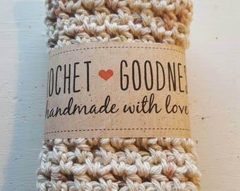Handmade dishcloth washcloth 100% cotton crocheted cloth