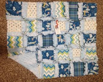 Handmade Ragtime Quilt Airplanes Baby Blanket