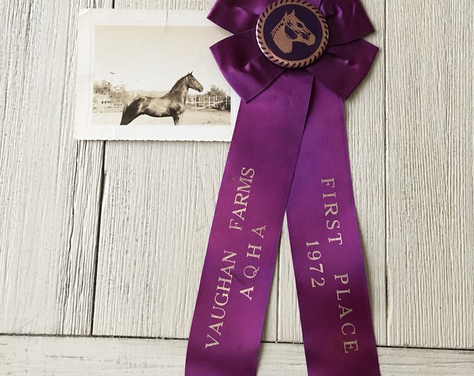 AQHA Horse Show First Place Prize Ribbon Vintage Award