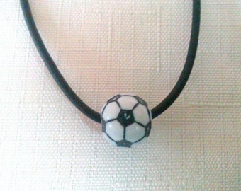 10 Soccer Ball Necklaces Party Favors