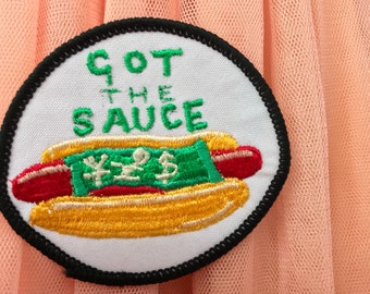 patch got the sauce handmade 1/1 patch freemotion embroidered