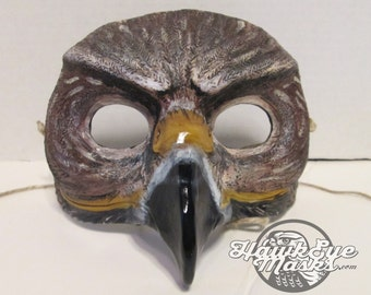 Red tailed hawk mask, bird, masquerade mask, costume mask, red tail hawk, Hawkeye, Hawk, Halloween mask, bird mask, totem
