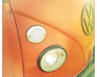4 x 4 photo card-Ladybug VW bus