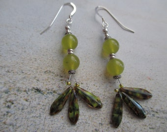 Jade-Sterling Silver-Glass