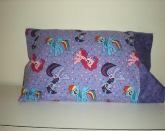 Travel Pillow My Little Pony on a Purple Background