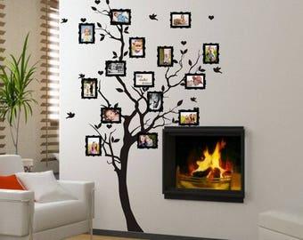 Wall sticker - Family tree for photos  (familietræ,stamboom,stammbaum,familietre,släktträd)