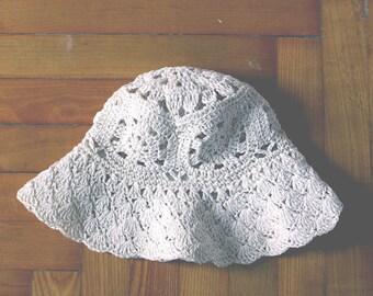 Macrame Summer Hat / Vintage Cotton Hat / Boho Style Hat