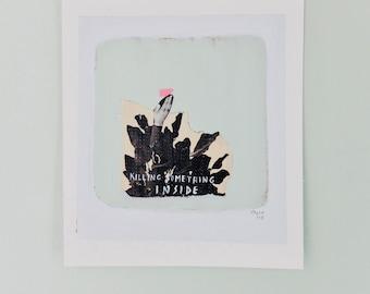 Collage, Original illustration, artwork Rottenman editions