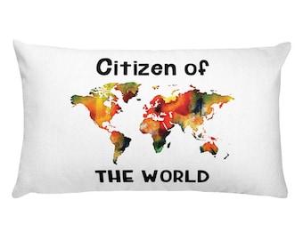 Citizen Of The World (english) Rectangular Pillow