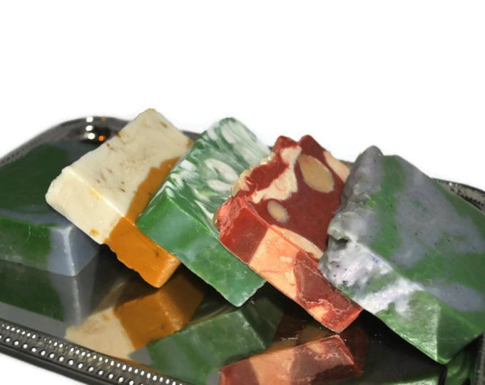 5 Bars of Soap-Handmade Soap Gift Set -Vanilla/Cranberry, Lime/Ginger, Lavender/Lime, Grapefruit/Orange, Lime/Tangerine Blowout Sale