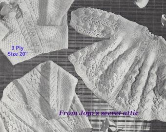 Vintage Greenock baby pattern 3ply