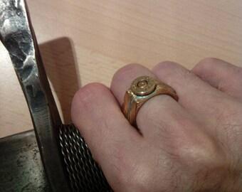 Engineering Viking Rune Bullet Ring 17mm