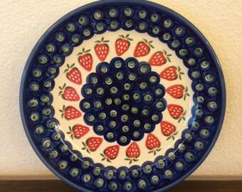 Polish Pottery Dinner/Serving Plate