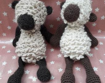 Crocheted Alpaca plush toy sheep