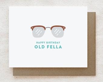 Funny Birthday Card for Him, Funny birthday card dad, Birthday card brother, Birthday card for husband, Birthday card boyfriend - Old Fella