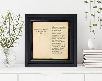 Alices Adventures in Wonderland - Lewis Carroll, Opening Line Children's Literature Fine Art Print for Nursery, Playroom, Classroom, or Home