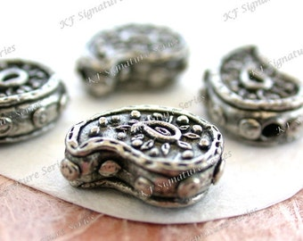 Paisley Beads, Lead Free Pewter Paisleys Boho Beads, Made in America USA Copyright © Protected Pewter Beads, KF Signature Series ~ K176 AP