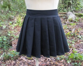 Anime Cosplay Pleat Skirt- School Girl Skirt - Japanese Anime Cosplay School Uniform Skirt - Available in Any Color and Size - Bow Optional