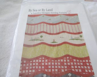 "Paper Pattern for a quilt called By Sea or By Land by Linden Designs 38"" x 52"""