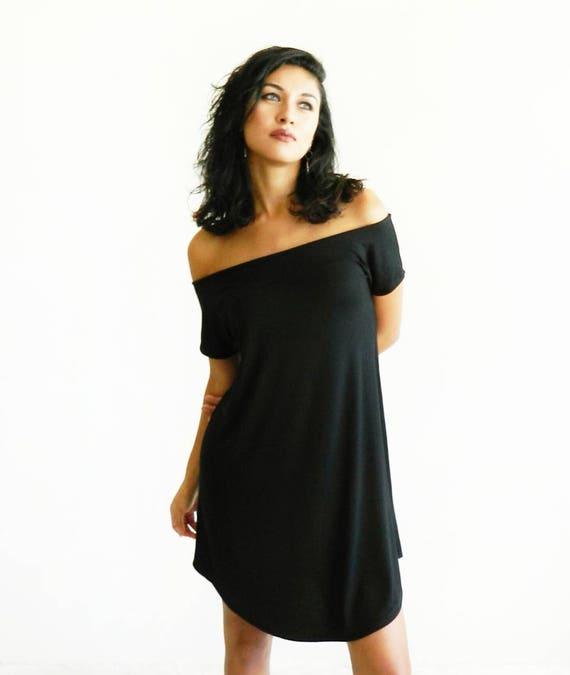 Darla Off The Shoulder Dress / Black / Gray / Navy