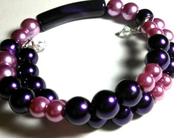 Purple Wraparound Bracelet