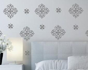 Vinyl Wall Decal-Damask Medallion Design- Vinyl Wall Decal