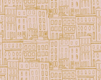 Gramercy Brownstones in Washed, Leah Duncan, Art Gallery Fabrics, 100% Cotton Fabric, GRA-4505
