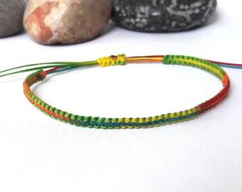Rainbow bracelet Colorful Bracelet friendship bracelet surfer bracelet summer bracelet beach bracelet Wrap Bracelet Macrame Bracelet Simple