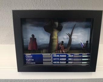 Final Fantasy VII - 3D Shadow Box - Diorama