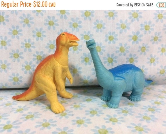 Summer Sale 1988 Playskool Definitely Dinosaurs Toys Dinosaur Animal Toys Retro Kids Children by Etsy