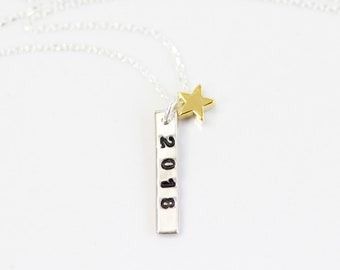 Graduation Gift / A Star Is Born/  2018 Graduation / Bar Necklace / Gift for Women / Delicate Necklace / Inspirational / Gift for Her