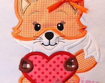 Fox Heart Applique