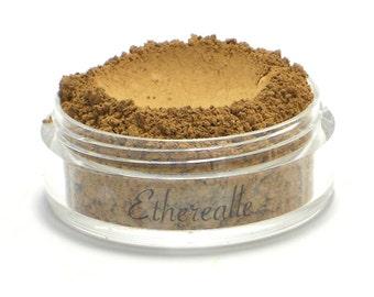"Vegan Mineral Powder Foundation - Delicate  - ""Hazelnut"" (medium-dark shade with yellow undertone) Large Net wt 7g Jar"