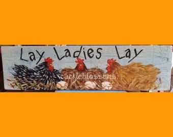 """5.5"""" X 21"""" #217 Chicken Art Signs"""
