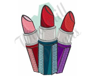 Lipsticks - Machine Embroidery Design