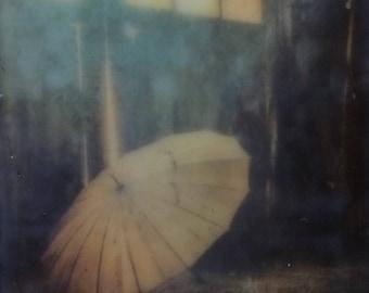 "Encaustic Photography Art ""Fly Away"" 5x7 photo encaustic art - Abandoned places"