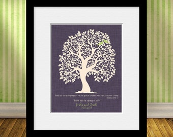Hodding Carter Jr. Quote, Roots and Wings Quote, Parent's Thank You Print, Wedding Tree with Lovebirds, Thank You Gift for Mom and Dad