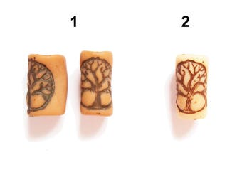 Tree of life dreadlock bead.