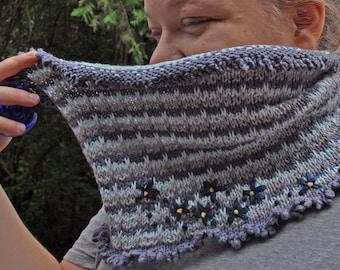 Cornflower Cowl knitting pattern - instant download