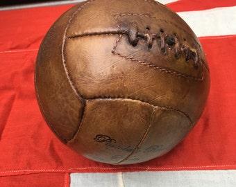 Light tan genuine leather football