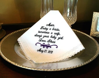 Wedding Handkerchief-Wedding Hankerchief-Wedding Hankies-Wedding Hanky-Weddings Handkerchief Hankerchief Hankies Mother of the Bride-TODAY