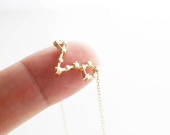 Pisces Constellation Necklace Pisces Necklace Zodiac Pisces Pendant Necklace Constellation Jewelry,