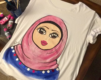 Hand painted T-shirt / customize t-shirt