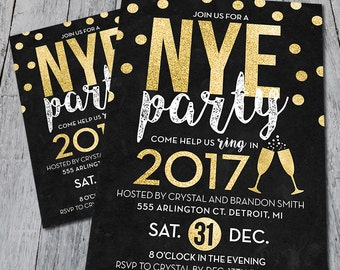 New Years Eve Party Invitation (Digital)