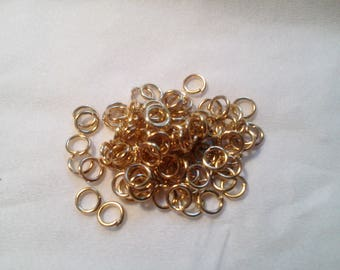 100 jump rings 4mm Gold - 1 035